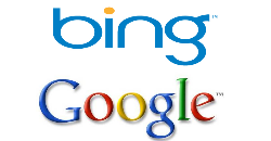 Bing and Google Click thru Rates, CTR