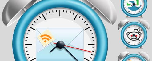 clock icons Social Media Icons