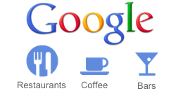 Google Mobile Search localising with Google Places