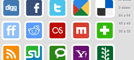 smart white border Social Media Icons