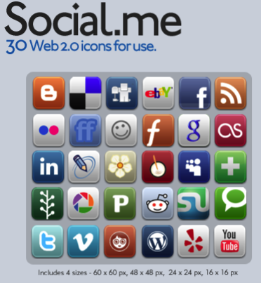 social me Social Media Icons