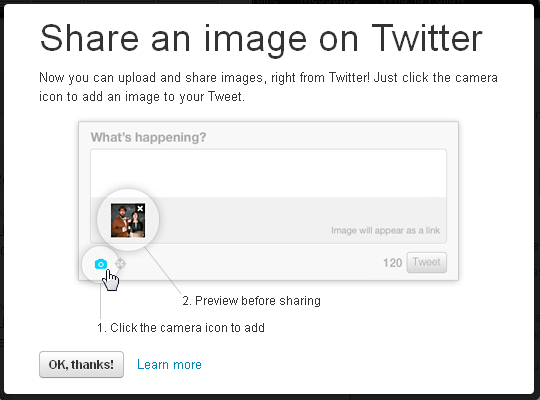 twitter picture upload Twitter Picture upload Feature released