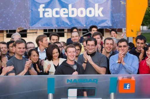 facebook ipo Facebook IPO   First Day Trading, $104 Billion USD Value