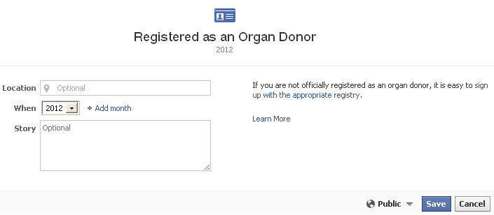 organ donor registration Facebook Organ Donor option now available to Australian Users