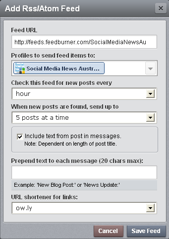 Feed Configuration You can Finally Autopost your RSS Feed to your Google+ Page