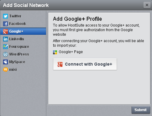 HootSuite Google Plus You can Finally Autopost your RSS Feed to your Google+ Page