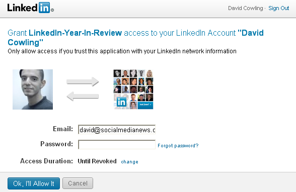 yir authentication LinkedIn App   Year In Review