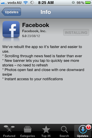 Facebook 5.0 Facebook releases brand new iPhone and iPad applications