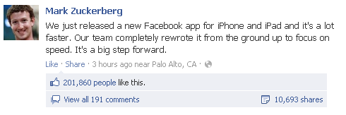 new mobile app Facebook releases brand new iPhone and iPad applications