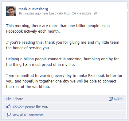fb1billion Facebook Reaches 1 Billion Active Users