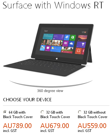 surface Microsoft Releases Surface Pricing For Australia