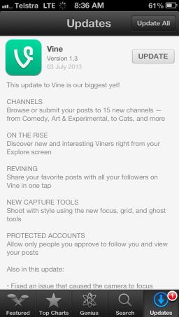 vine-update