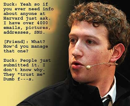 Zuckerberg in trouble over leaked IM chat