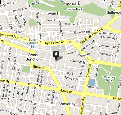 apple-store-bondi-junction-map