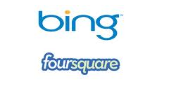 Bing Maps and Foursquare to integrate