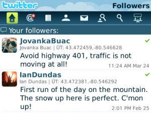 Blackberry Twitter Application