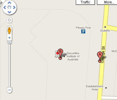 Google showing advertising inside Google Maps