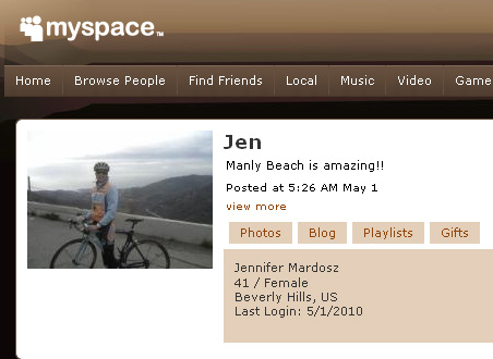 Jennifer Mardosz - MySpace