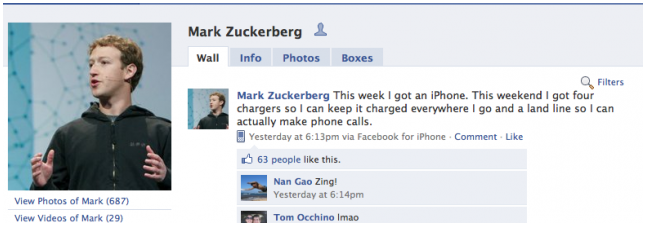 Facebook CEO Mark Zuckerberg not happy with his new iPhone
