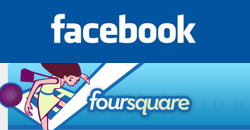 Facebook and Foursquare talking