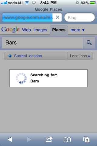 google places searching