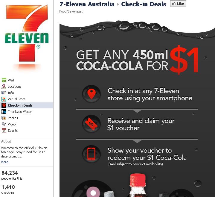 facebook 7 Eleven deals Australia