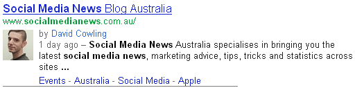 google australia rich snippets search results