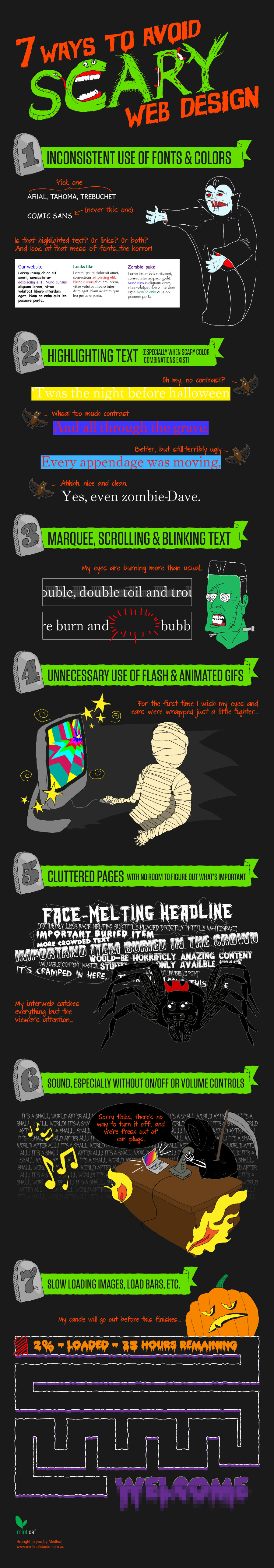 scary web design