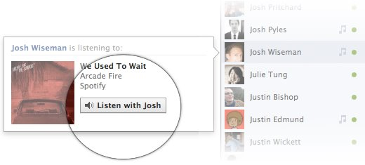 Facebook Music Chat